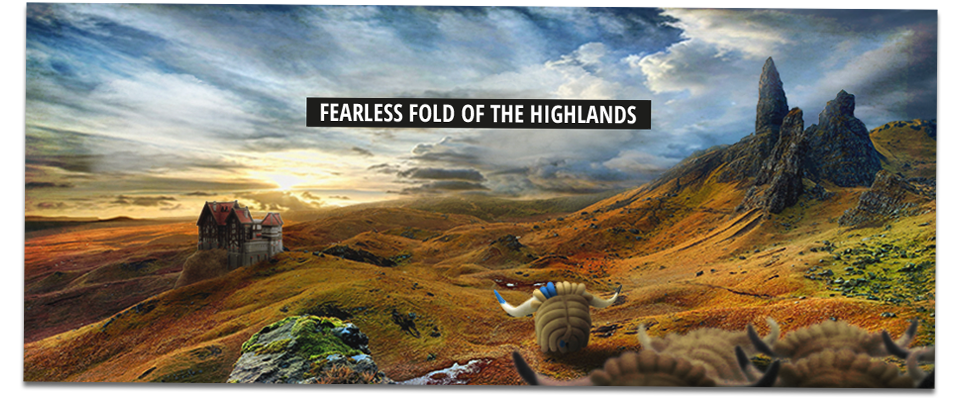 Bravehorn and the fearless fold of the highlands