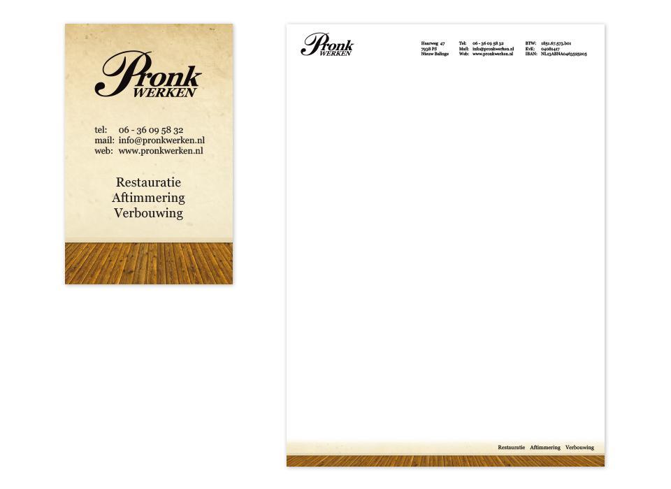 Ontwerp briefpapier en visitekaartje