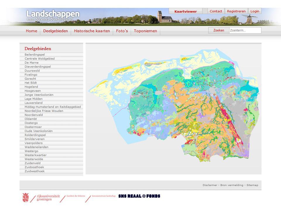 Website deelgebieden