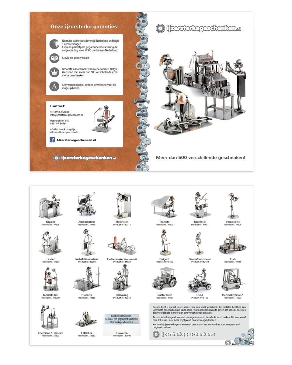 A5 folder ontwerp