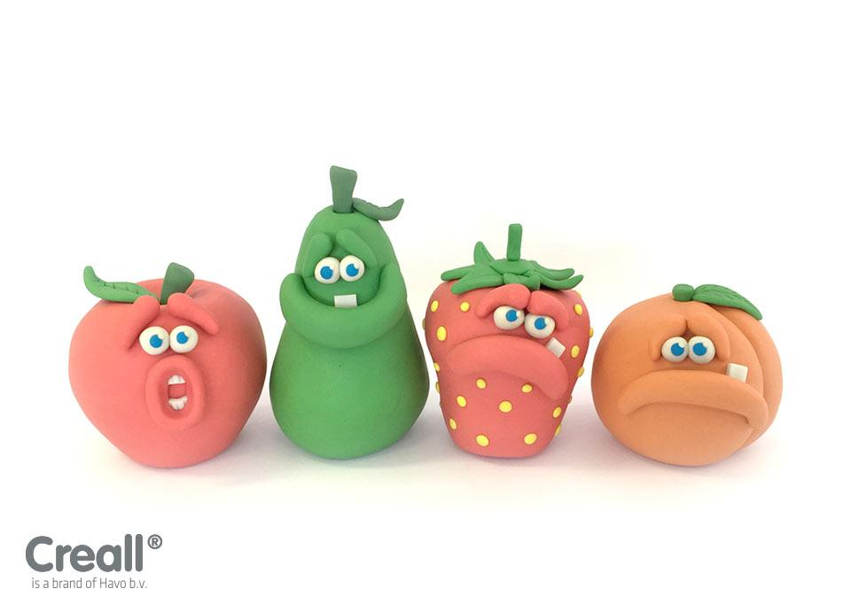 Klei workshop Fruit met emoties
