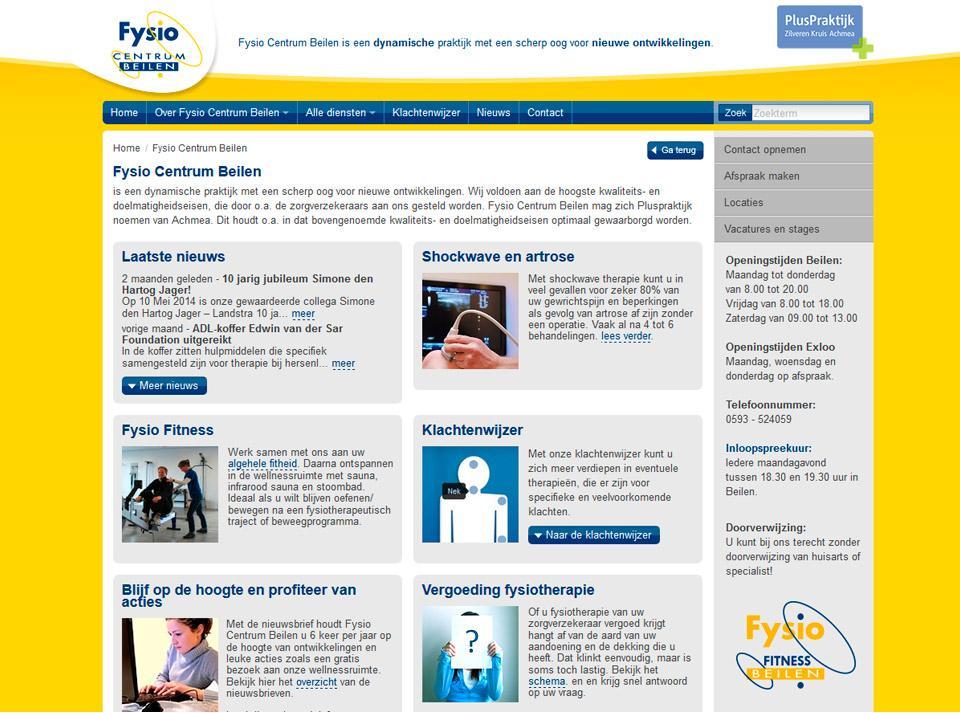 Website ontwerp (Website inmiddels vervangen voor een nieuwe)
