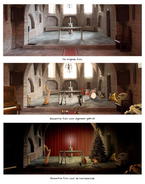 Bewerkte foto Huis van de Kerkmuziek