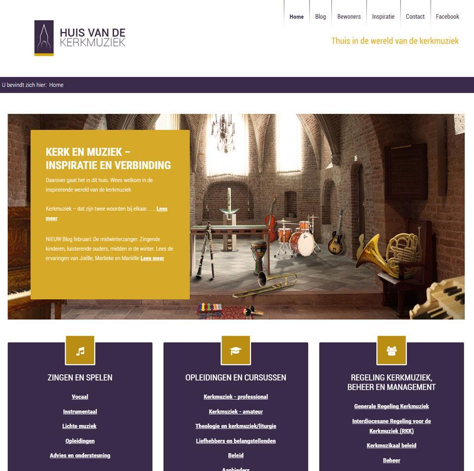 Website ontwerp Huis van de Kerkmuziek