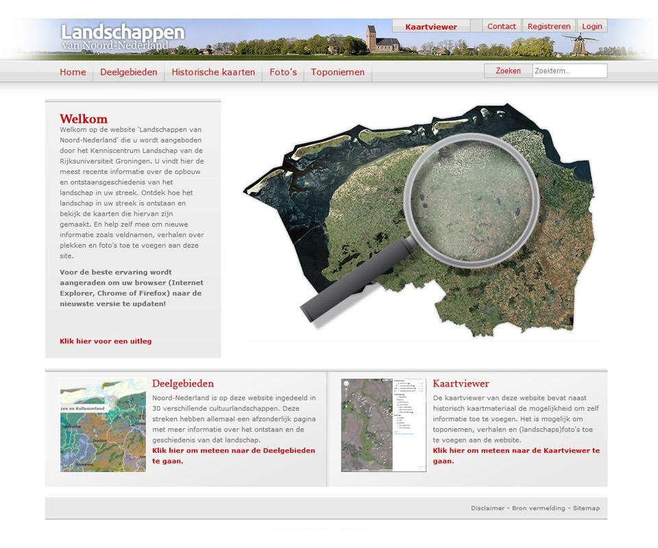 Ontwerp website www.landschapsgeschiedenis.nl