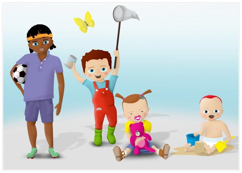Illustraties van kinderen