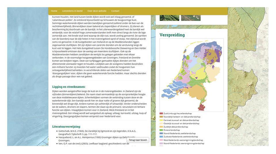 Leesteken detail pagina www.leestekensvanhetlandschap.nl
