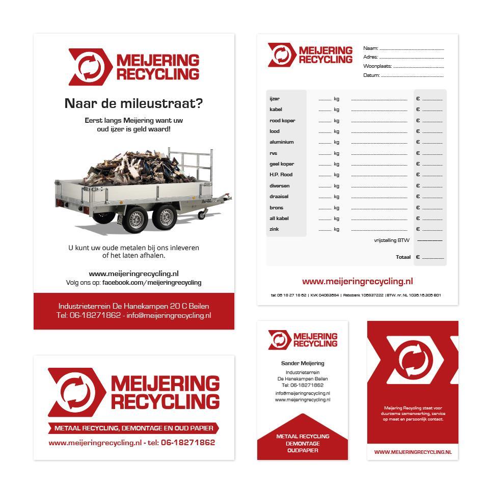 Huisstijl ontwerp Meijering Recycling
