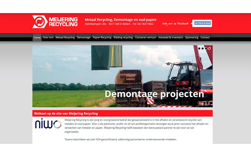 Onwerp website www.meijeringrecycling.nl