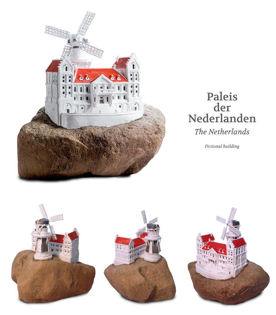 Klei kunstwerk Paleis der Nederlanden