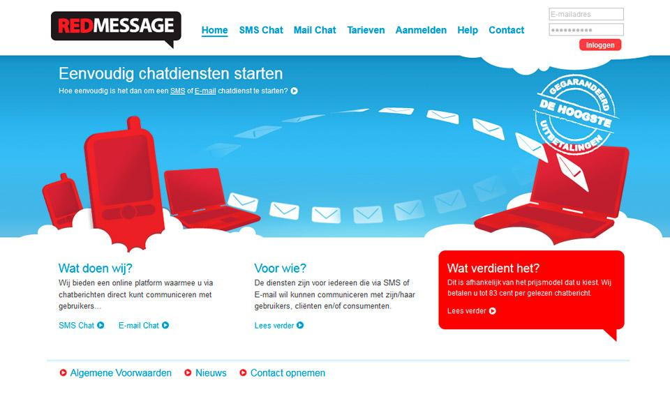 Website ontwerp www.redmessage.nl