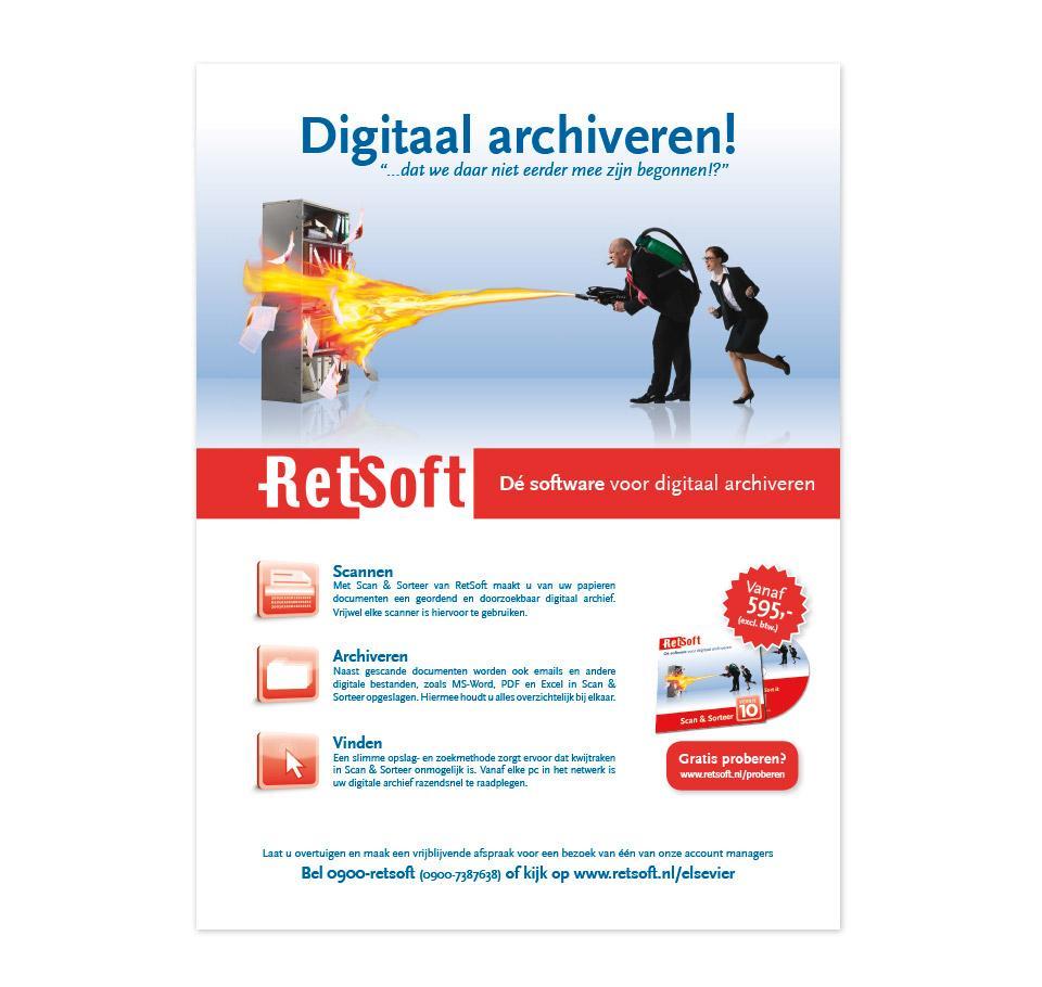 Advertentie ontwerp voor in Elsevier magazine