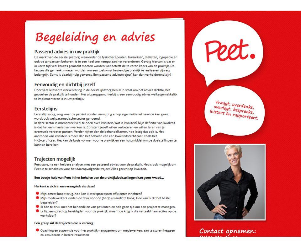 Ontwerp www.peetadvies.nl