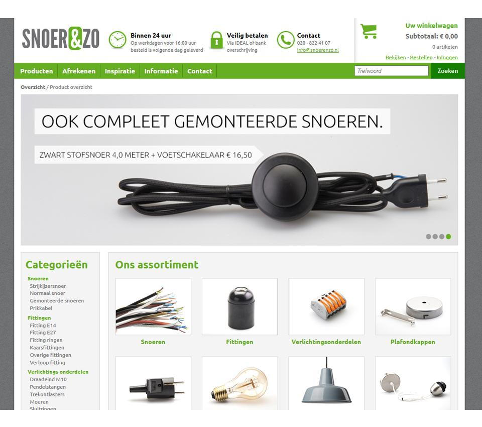 Website ontwerp www.snoerenzo.nl