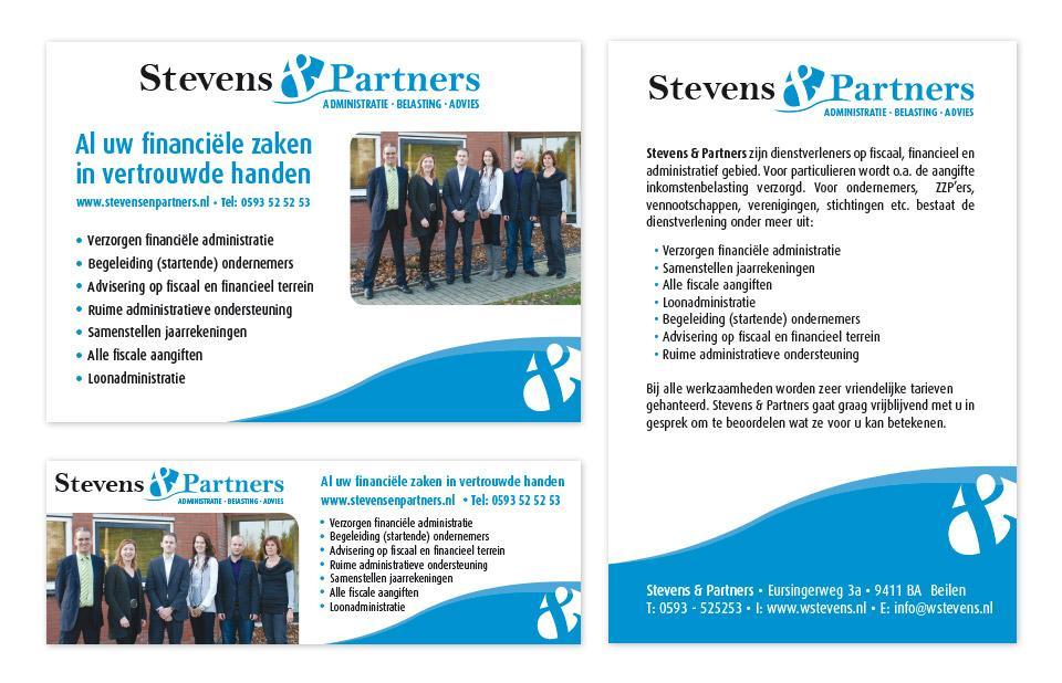 Ontwerp advertenties Stevens & Partners