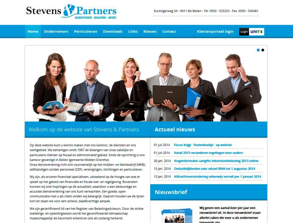 Website www.stevensenpartners.nl
