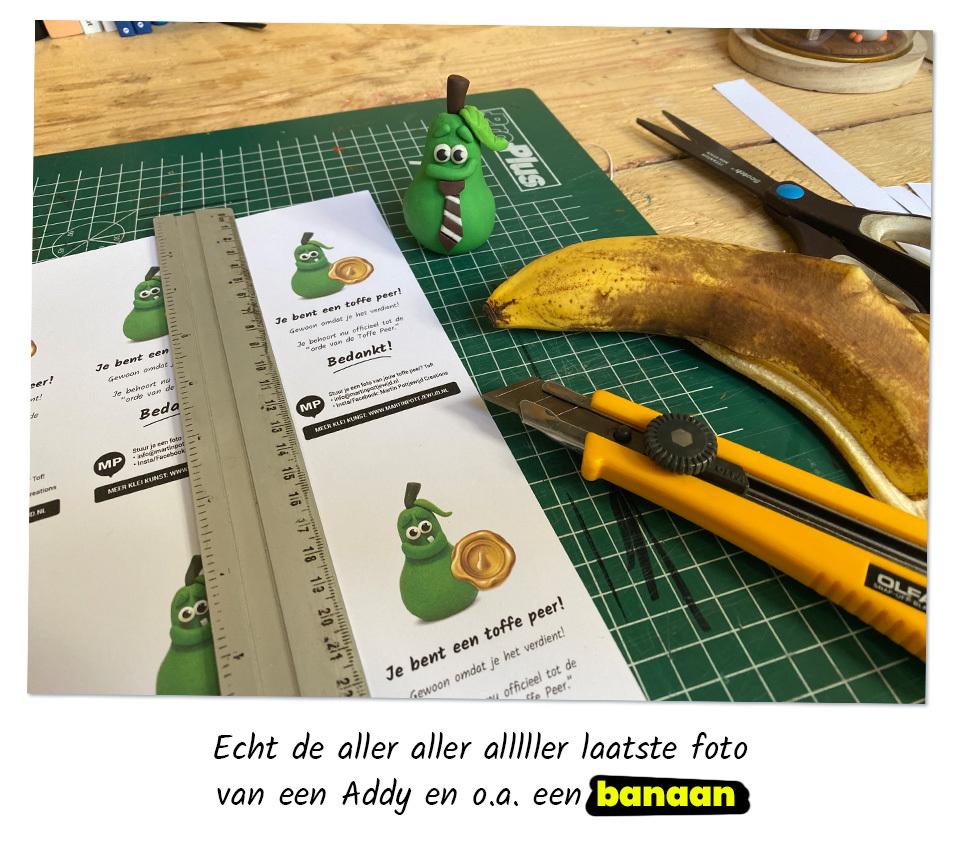 Toffe Peer en banaan