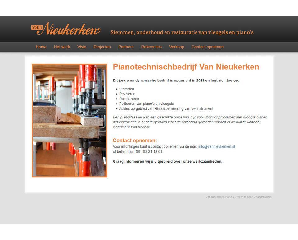 Ontwerp website www.vannieukerken.nl