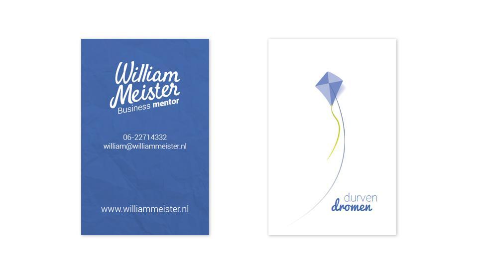 Ontwerp visitekaartje Wiliam Meister