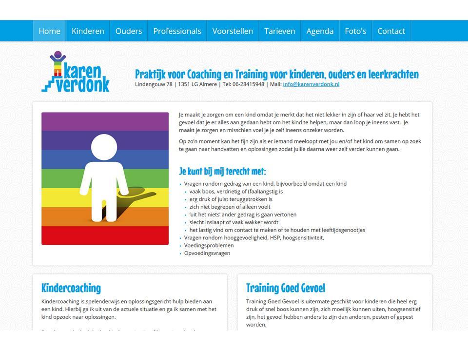 Ontwerp website www.karenverdonk.nl