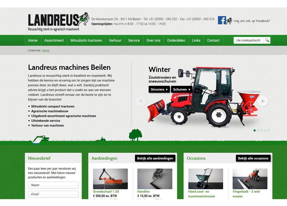 Ontwerp website www.landreus.nl