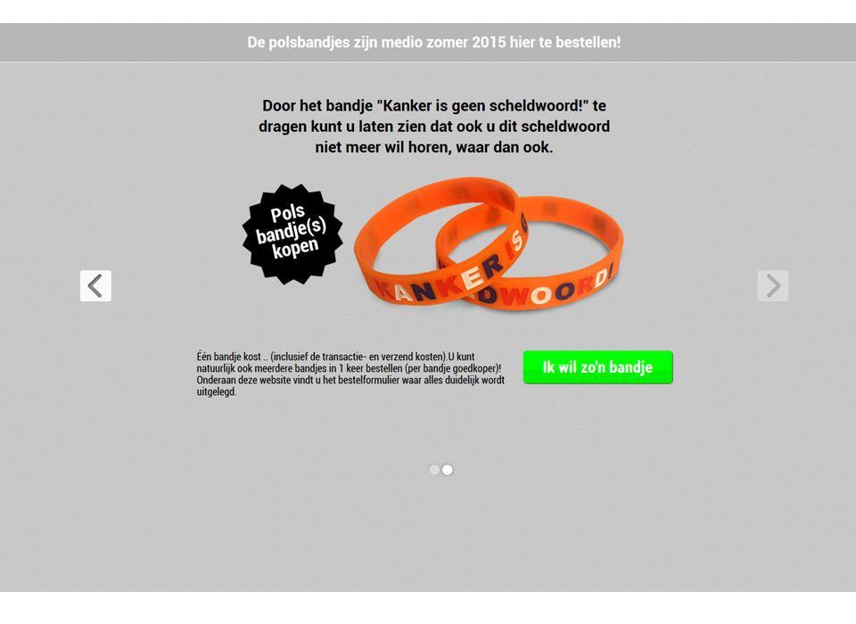 Website ontwerp www.kankerisgeenscheldwoord.nl
